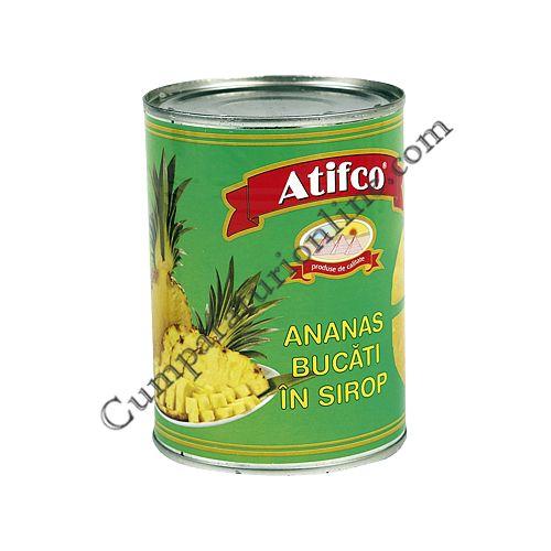 Ananas bucati in sirop Atifco 565 gr.