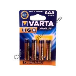 Baterii alkaline Varta Longlife LR3 AAA 4buc./set pret/buc.