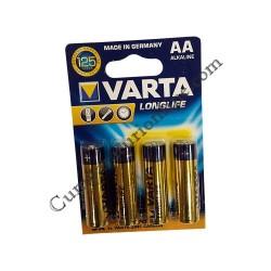 Baterii alkaline Varta Longlife LR6 AA 4buc./set pret/buc.