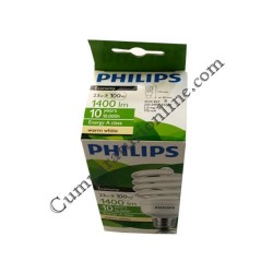 Bec economic spiral Philips 23W E27 lumina calda Ecotwister