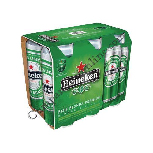 Bere Heineken doza 6x0,5l. pret/buc.
