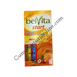 Biscuiti Belvita Start cereale, miere si alune de padure 300 gr.