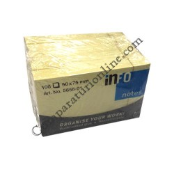 Blocnotes adeziv Scribant 50x75mm. 100 file 5buc./set pret/buc.