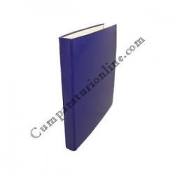 Caiet mecanic A4 Scriva PP 4 inele 2,5 cm. albastru