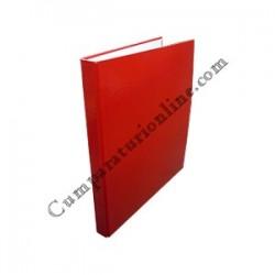 Caiet mecanic A4 Scriva PP 4 inele 2,5 cm. rosu