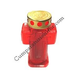 Candela plastic cruce Light Candel 20h