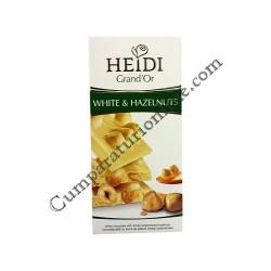Ciocolata alba cu alune Heidi Grand`Or 100 gr.