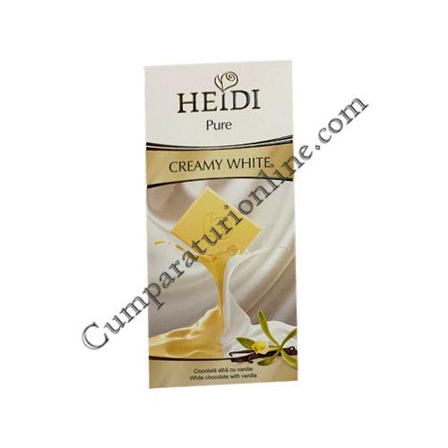Ciocolata alba Heidi Pure white 80 gr.