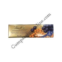 Ciocolata alune si stafide Lindt 300 gr.