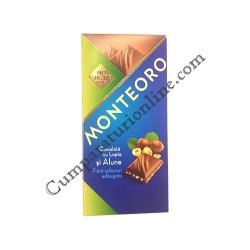 Ciocolata cu alune fara zaharuri Monteoro 90 gr.