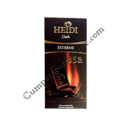 Ciocolata neagra 85% Heidi Extreme 80 gr.