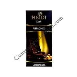 Ciocolata neagra cu fistic Heidi 80 gr.