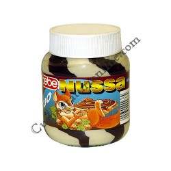 Crema de cacao cu alune bicolora Cebe Nussa 400 gr.