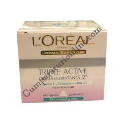 Crema de zi pt. ten normal L`oreal Triple Active 50 ml.