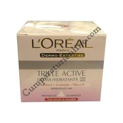 Crema de zi pt. ten sensibil/uscat L`oreal Triple Active 50 ml.