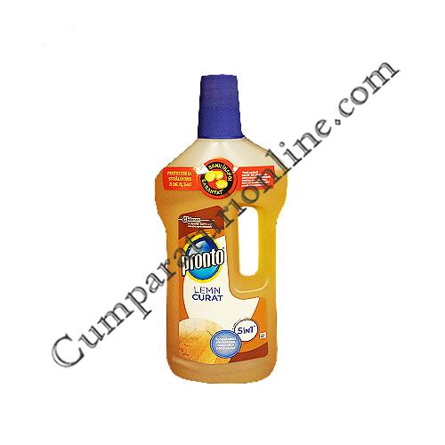 Detergent lichid Pronto Lemn Curat 5in1 750 ml.