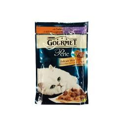 Hrana umeda pisici curcan&miel Gourmet Perle Duo 85 gr.