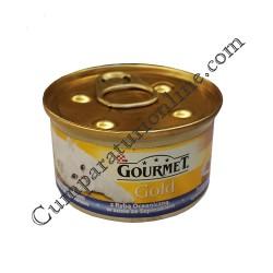 Hrana umeda pisici duo peste si spanac Gourmet Gold 85 gr.