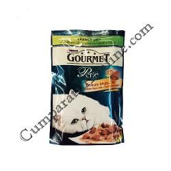 Hrana umeda pisici iepure/vanat Gourmet Perle 85 gr.