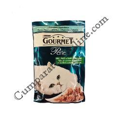 Hrana umeda pisici sos pastrav spanac Gourmet Perle 85 gr.
