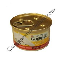 Hrana umeda pisici vita si pui Gourmet Gold 85 gr.