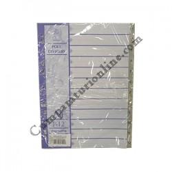 Index plastic A4/1-12 Scriva