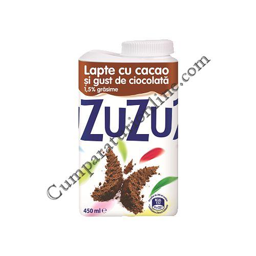 Lapte cu cacao si gust de ciocolata Zuzu 1,5% grasime 450 ml.