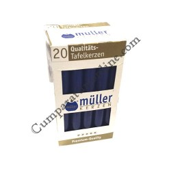 Lumanare cilindru indigo Muller 20 buc./set pret/buc.