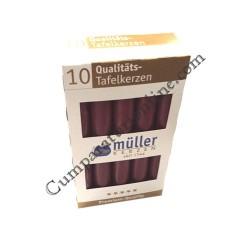 Lumanare cilindru visinie Muller 10 buc./set pret/buc.