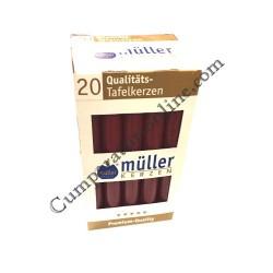 Lumanare cilindru visinie Muller 20 buc./set pret/buc.