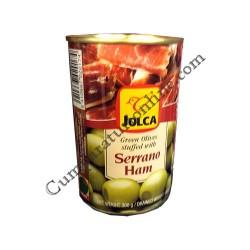 Masline umplute cu jambon Jolca 3oo gr