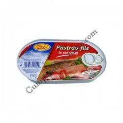Pastrav file in sos tomat Home Garden 170gr.