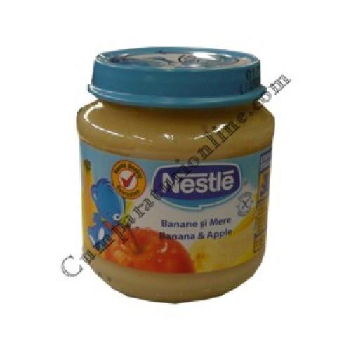 Piure banane si mere Nestle 130 gr.