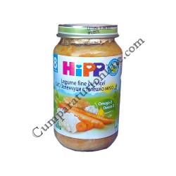 Piure legume fine cu vitel Hipp 220 gr.