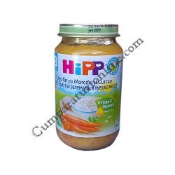 Piure orez fin cu morcovi si curcan Hipp 220 gr.