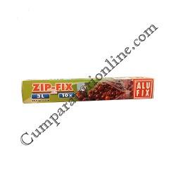 Pungi alimentare cu inchidere Zip-Fix Alufix 3l. 10buc./pac
