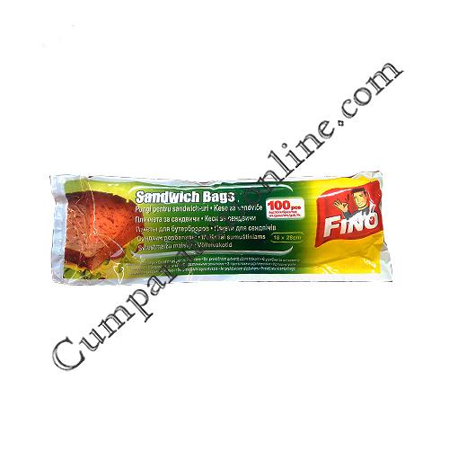 Pungi sandwich Fino 18x28 cm. 100 buc.