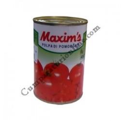 Rosii decojite taiate Maxim`s 380 gr.