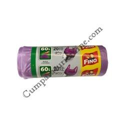 Saci gunoi 59x72 cm Fino Color HD 60L 20 buc.
