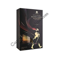 Scotch Whisky Johnny Walker Black 40% 0,7l. 2 pahare