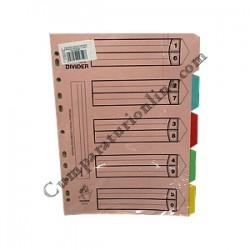 Separator carton 5 culori Scriva
