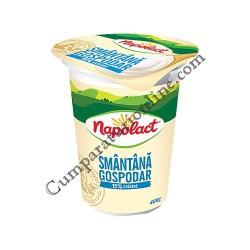 Smantana Napolact Gospodar 15% grasime 400 gr.