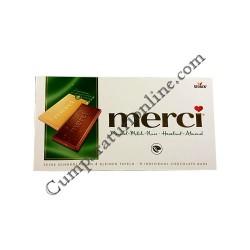 Tableta ciocolata alune si migdale Merci 100 gr.