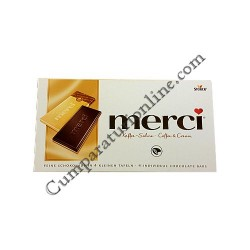 Tableta ciocolata cafea si frisca Merci 100 gr.