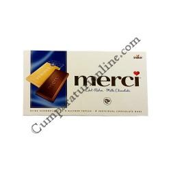 Tableta ciocolata lapte Merci 100 gr.
