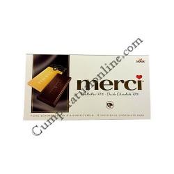 Tableta ciocolata neagra Merci 100 gr.