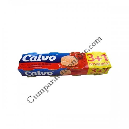 Ton in sos de rosii Calvo 3x80gr.