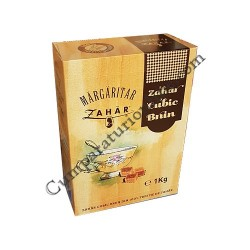 Zahar cubic brun Margaritar 1 kg.