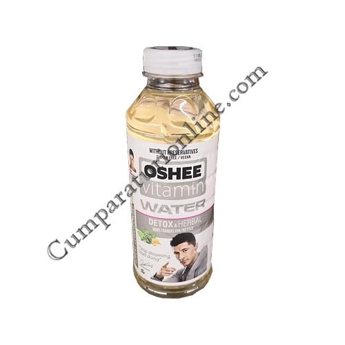 Apa plata cu vitamine DetoxHerbal Oshee 555 ml. Mint&Dandelion&Nettle