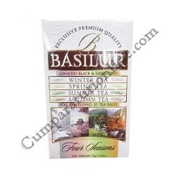 Ceai asortat 4 anotimpuri Basilur 35 gr.